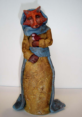 Fox Folk Art Sculpture