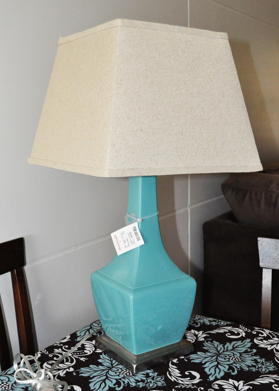Quaintly Garcia HomeGoods Teal Ceramic Lamp
