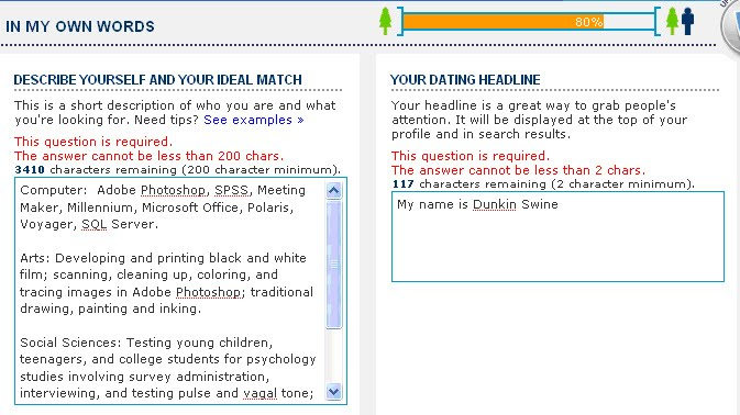 Dating profile examples to copy