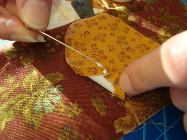 Thread head freezer paper applique tutorial