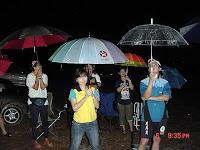 Circle in the rain