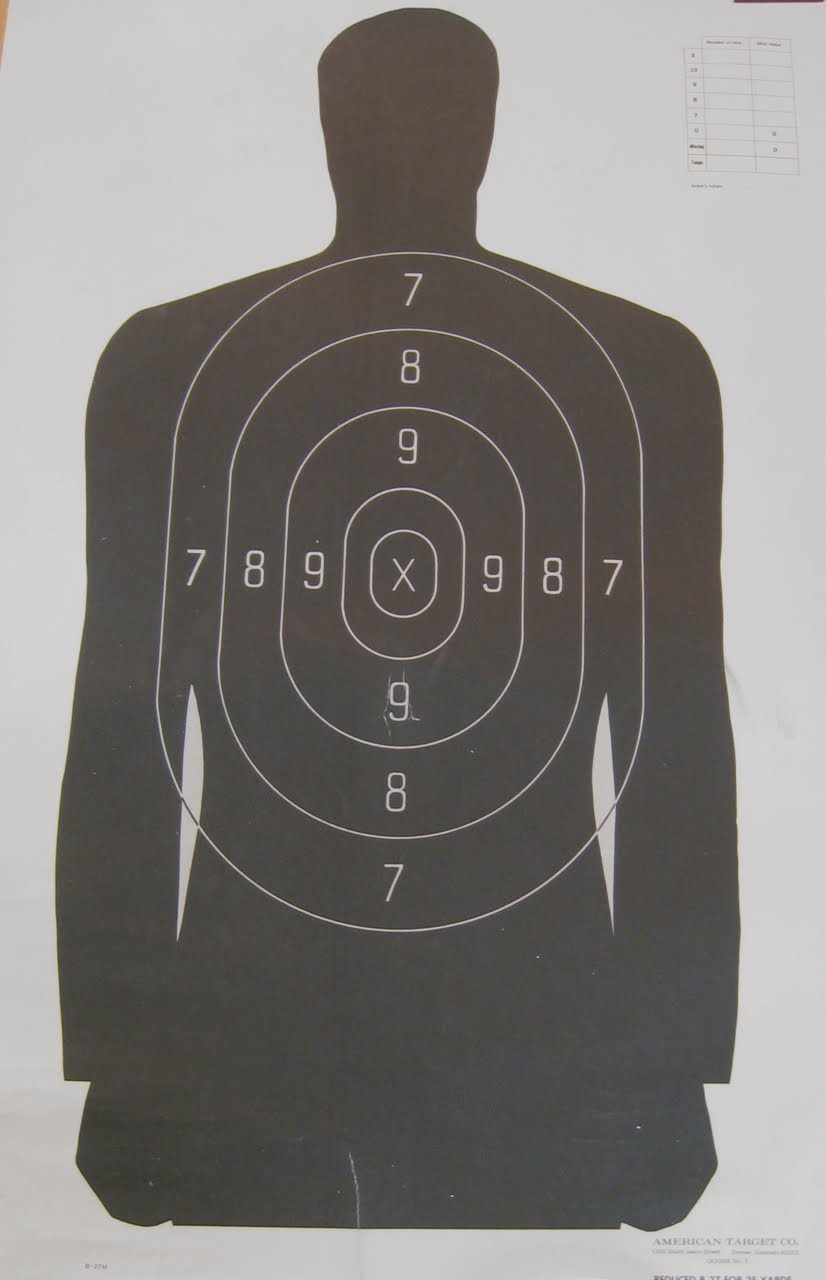 It is a photo of Satisfactory Target Practice Sheets