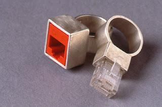 anonymous brain geeky wedding rings