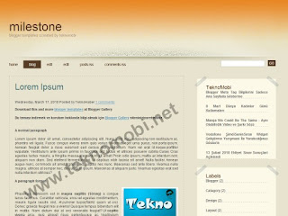 Milestone, blogger, blogger templates, blogger themes