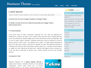 business template, blogger templates