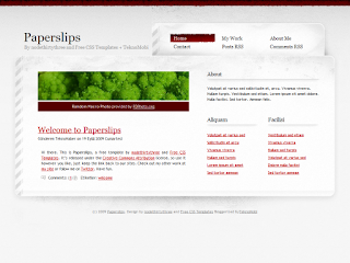 paperslips, css templates, blogger templates
