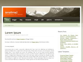 terrafirma2, terrafirma2 blogger theme, blogger templates gallery