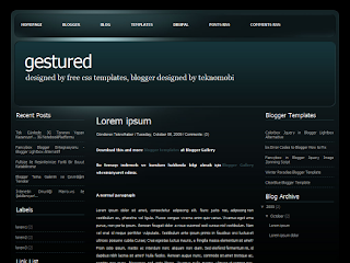 gestured, gestured css templates, free blogger templates