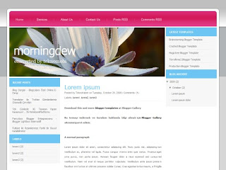 blogger templates, css templates, morningdew