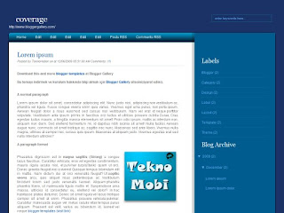 covarage, 2 columns templates, blogger templates