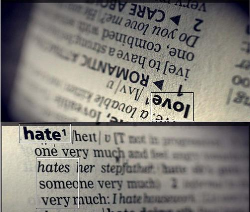 THE STORY BEHIND THE WORD HATE