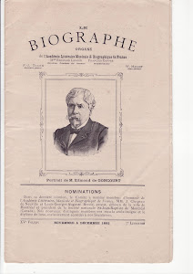 Page de garde dans  le Biographe de novembre  dcembre 1892