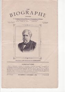 Page de garde dans  le Biographe de novembre à décembre 1892