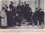 Photographie prise dans le jardin d'Edmond de Goncourt vers 1890