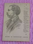 Carte Postale de Jules de Goncourt