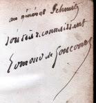 Dédicace d'Edmond de Goncourt .