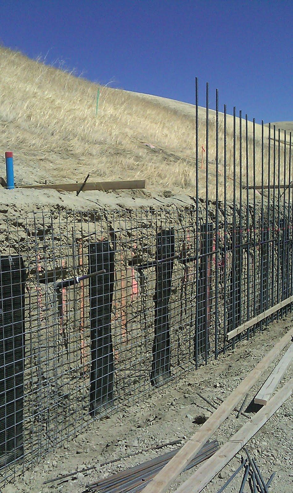 Soil Nail Installation : Vasco safety improvements phase soil nail wall