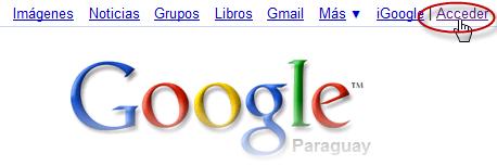 Acceder a la cuenta de google