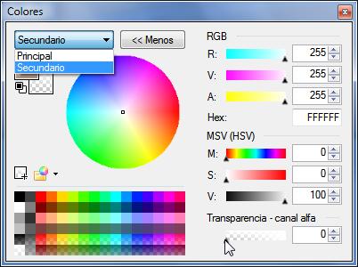 Imagen Paint.NET Color Secundario