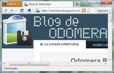 Imagen: Odomera Blog - Firefox Botón Naranjado