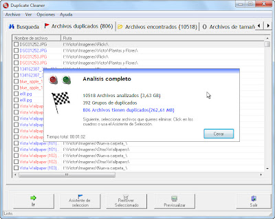 Imagen: Duplicate Cleaner - Análisis completo