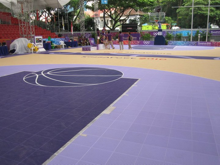 A day in a life of a yog volunteer my queenstown for Custom basketball court cost