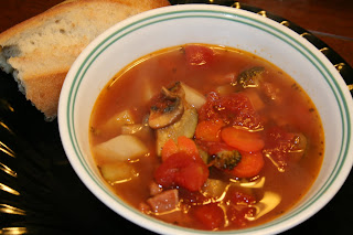 Ham And Vegetable Soup - Oh Sweet Basil