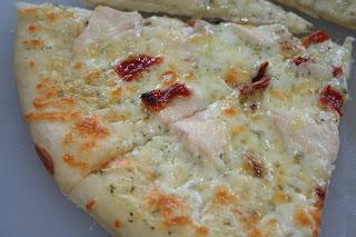 Creamy Chicken Pesto Pizza