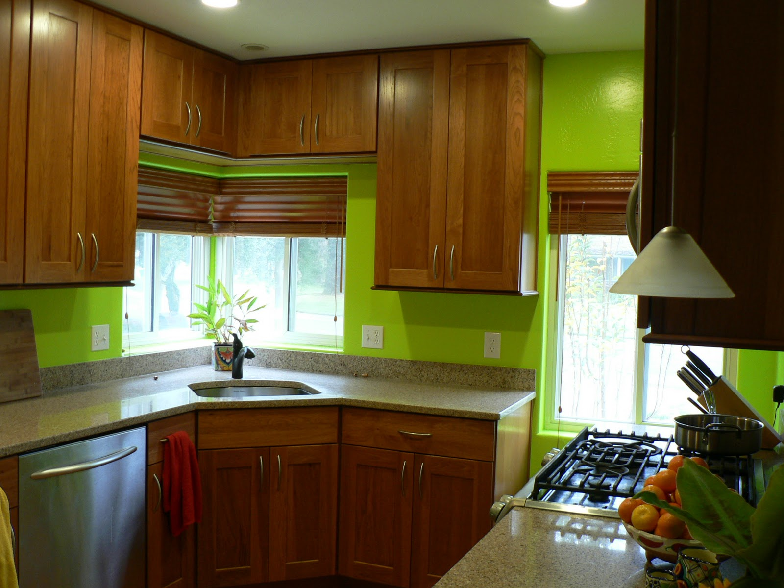 my bright green kitchen awake at the whisk
