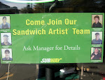 Dude, no, I'm not just a Subway employee. I am a sandwich artist. It's totally related to my major.