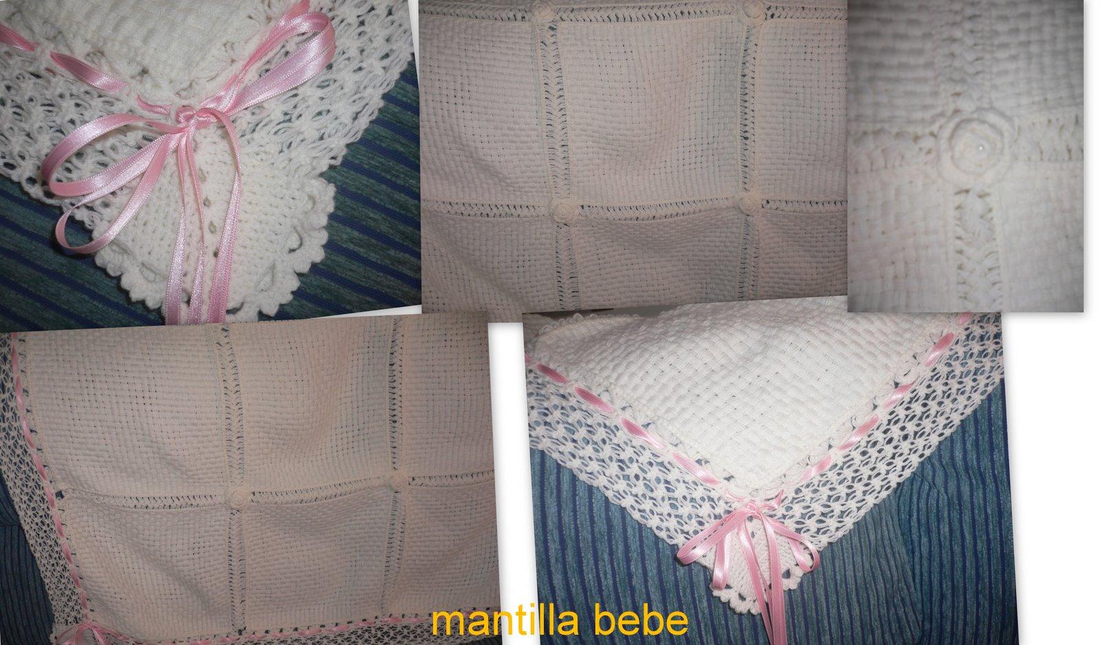 Mantilla Para Bebe Tejida Crochet Manta Cuna Mla