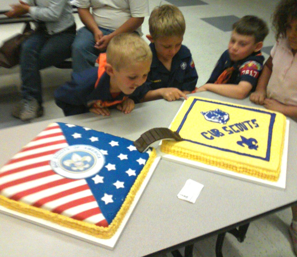 Cake Ideas For Boy Scouts : Wow! Cub Scouts blue and gold ceremony by militza on ...