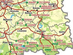 Mapa Szlak Zielny Małopolska Wieś Pachnąca Ziołami