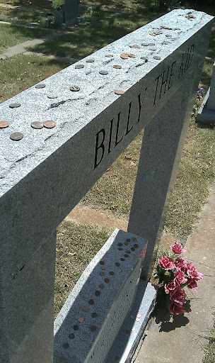 billy the kid grave site. His grave is well kept by the
