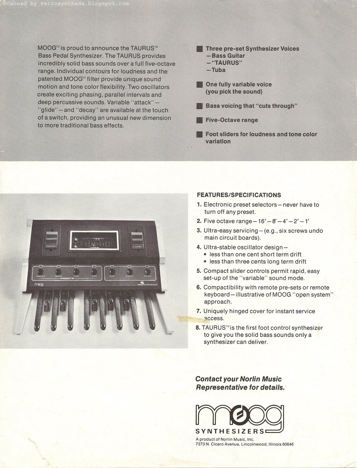 moog_taurus_broch_74_back retro synth ads moog taurus bass pedal synthesizer (aka taurus 1 2008 Taurus Wiring Diagram at bakdesigns.co