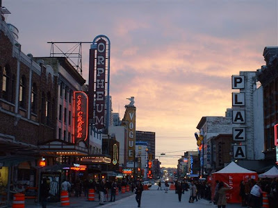 Granville street, downtown 2011