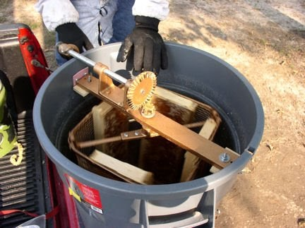Backyard Bee Blog A Home Made Honey Extractor