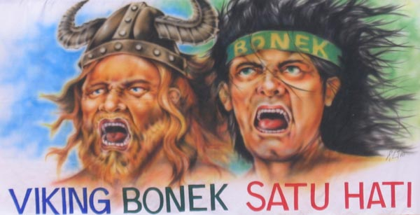 bonek viking satu hati kita satu nyali satu nyali wani bonek viking ...