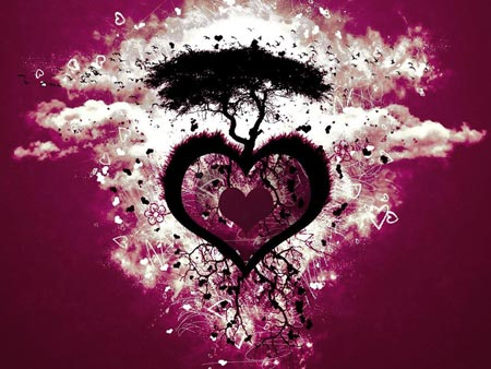 wallpapers de corazones. corazones de amor imagenes