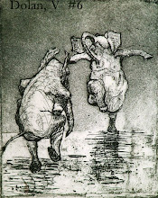 Dancing Ellephants - Intaglio Etching