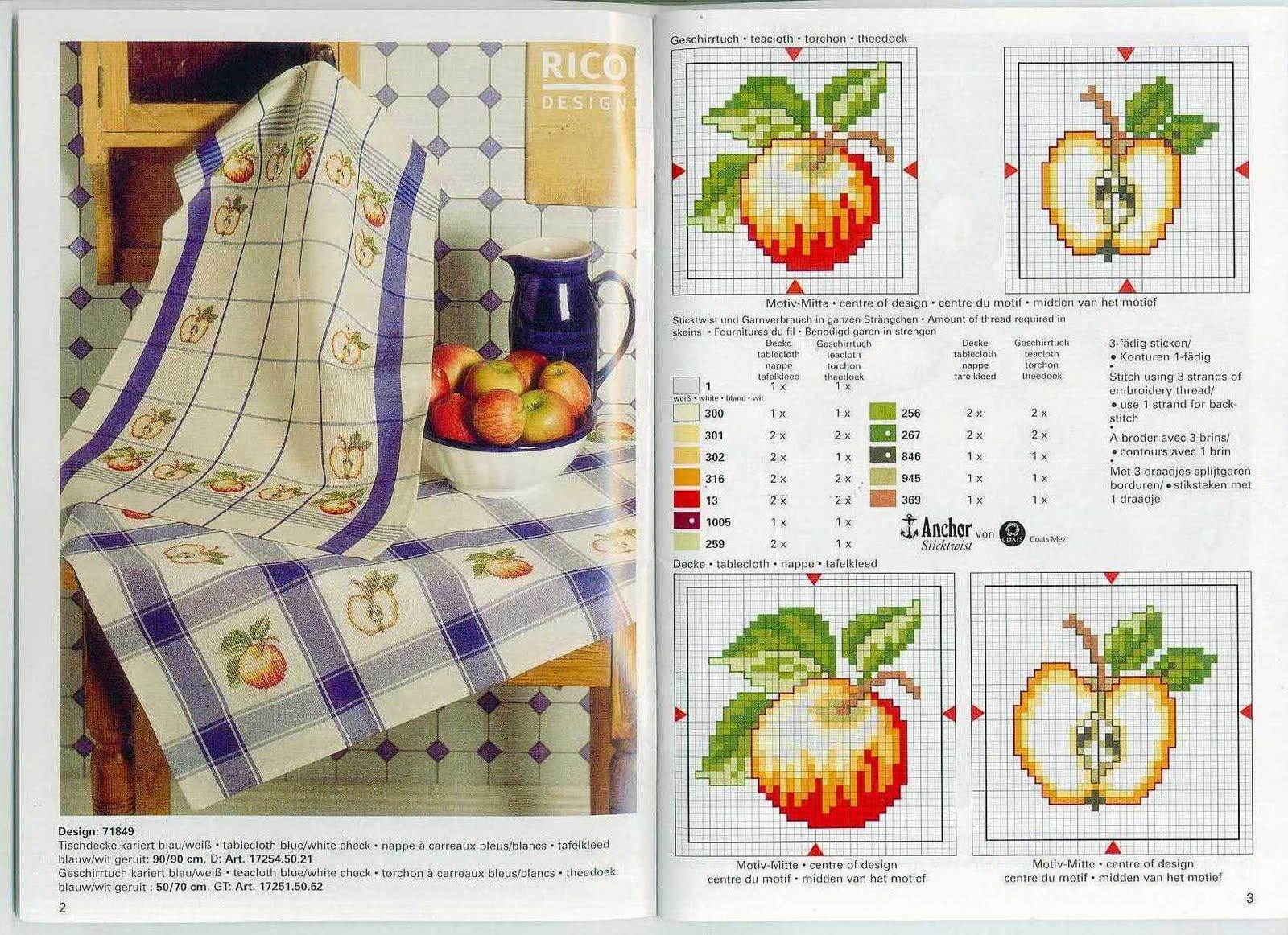 схема вышивки крестом дары природы