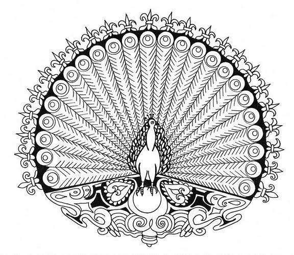 Mandalas Para Pintar: mandla pavo real