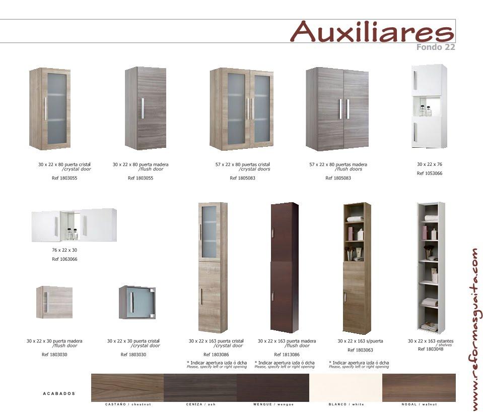 Muebles auxiliares para el ba o iv reformas guaita for Muebles auxiliares modernos