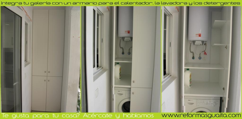 White flamingo una cocina muy fresca reformas guaita for Mueble lavadora exterior