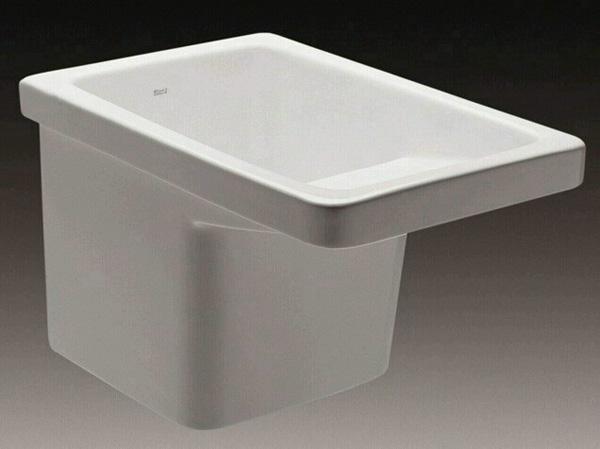 lavadero; un mueble de aluminio lacado en blanco diseñado