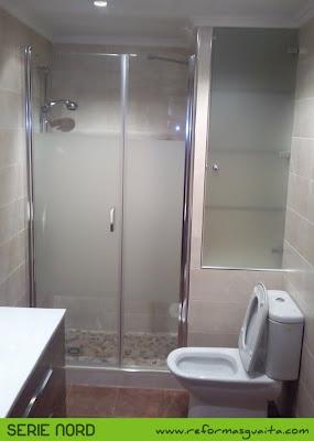ducha obra armario puerta cristal baño