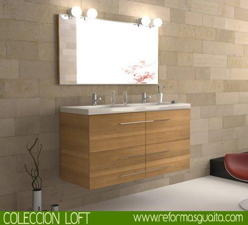 Colecci n loft de muebles de ba o reformas guaita for Mueble bano dos senos 150