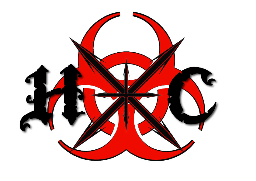 "Hardcore tattoo design. ""Hardcore"" (hxc) tattoo design."