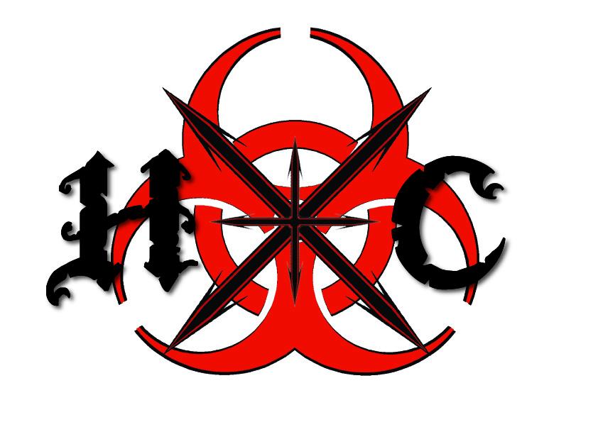 "Hardcore tattoo design. ""Hardcore"" (hxc) tattoo design."