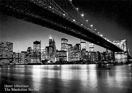 new york city at night time. night; new york city